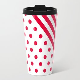RED DOTS and LINES - CHRISTMAS Travel Mug