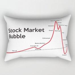 Stock Market Bubble Rectangular Pillow