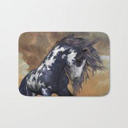 Storm, wild horse, fantasy Bath Mat