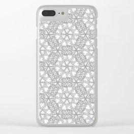 Love Hearts Doodle - Silver Clear iPhone Case