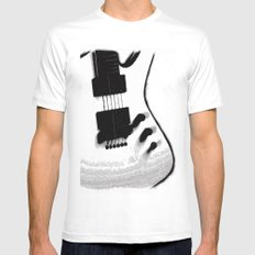 Guitar Iceman Mens Fitted Tee SMALL White