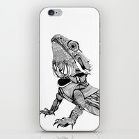 dragon iPhone & iPod Skins featuring Dragon by eva vasari