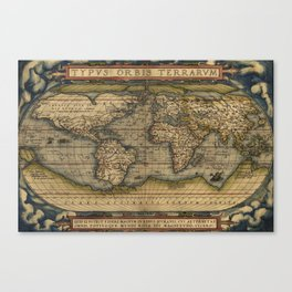 Antique Map of North and South America Canvas Print