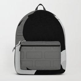 Black cat looks at his shadow #society6 #decor #buyart #artprint Backpack