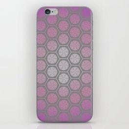Hexagonal Dreams - Purple Pink Gradient iPhone Skin