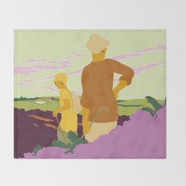 Yorkshire Moors hiking Throw Blanket