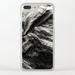 Sequoia Abstract, No. 1 bw Clear iPhone Case