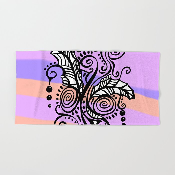 Freestyle Doodle Marker Design Purple Peach Hand Amp Bath