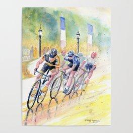 Colorful Bike Race Art Poster