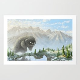 Teddy Yeti Art Print