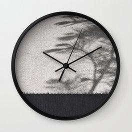 Grey Tree Branch Shadows and Texture Wall Clock