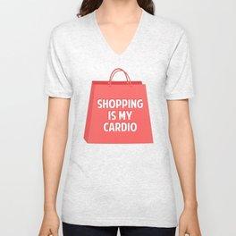 Shopping is my Cardio Unisex V-Neck