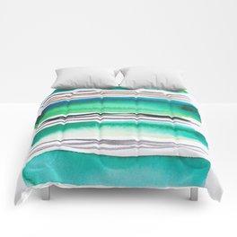9  |181026 Lines & Color Block | Watercolor Abstract | Modern Watercolor Art Comforters