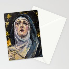 Mary of Nazareth at the foot of the cross Stationery Cards