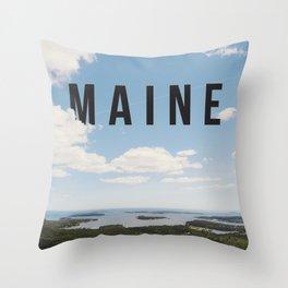 Maine. Throw Pillow