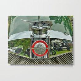 Lea Francis Radiator Cap Metal Print