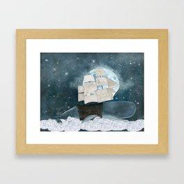 the sky whale Framed Art Print