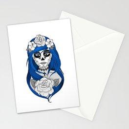 Santa Muerte Blue Stationery Cards