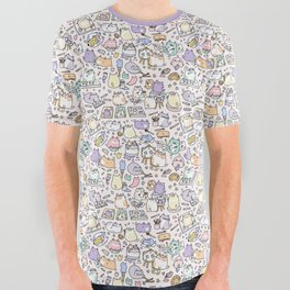 Artsy Cats All Over Graphic Tee
