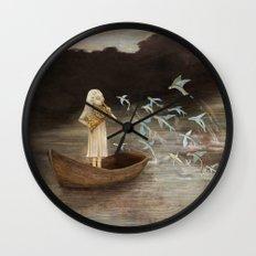 Solo at Dawn Wall Clock