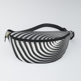 Square wormhole (b/w) Fanny Pack