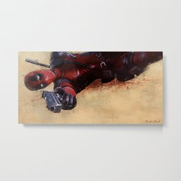 The Acrobatic Merc With A Mouth Wade Wilson - X-Force Metal Print