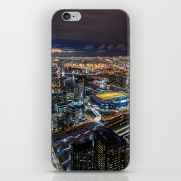 Melbourne at Night iPhone Skin