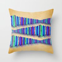 origami Throw Pillows featuring Origami by DebS Digs Photo Art
