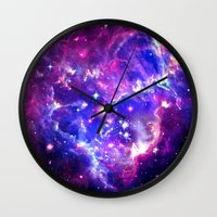 galaxy Wall Clocks featuring Galaxy. by Matt Borchert