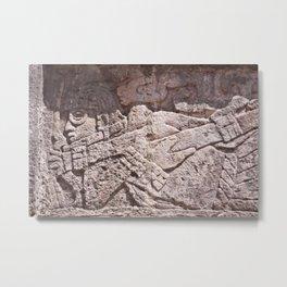 Ancient Alien at Chichen Itza Metal Print