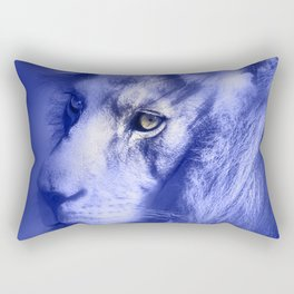 Fantasy Lion of Legend in Blue-Lilac Rectangular Pillow