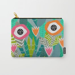 Abstract multicolored jungle Carry-All Pouch