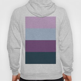 Blue and Purple Layers of Stripes Hoody
