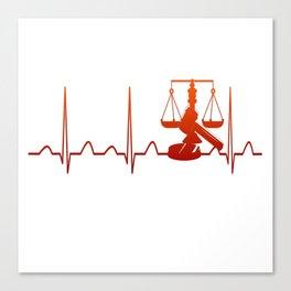 JUDGE HEARTBEAT Canvas Print