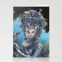 marie antoinette Stationery Cards featuring Marie Antoinette by Christina Hess