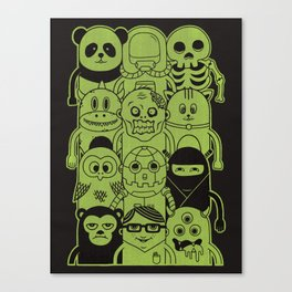 Famous Characters Canvas Print