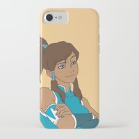 korra iPhone & iPod Cases featuring Korra by Nicky Severein