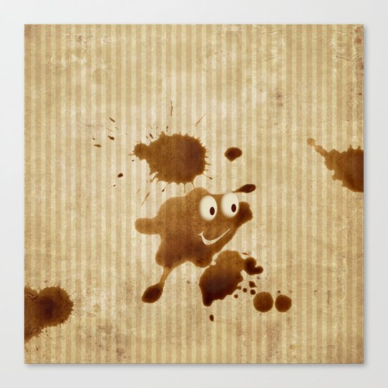The Smile of Coffee Drop - Old Paper Style Canvas Print