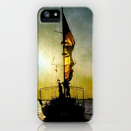 sunset and sailors iPhone Case