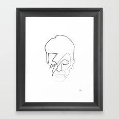 db as as black Framed Art Print