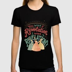 Revelation Womens Fitted Tee MEDIUM Black