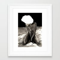 afro Framed Art Prints featuring Afro by Ilustrismo