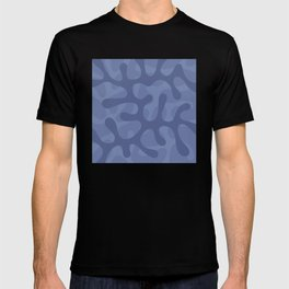 Blue Coral Abstract Pattern T-shirt
