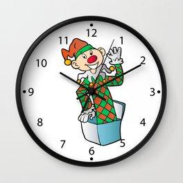 Cartoon Jack In The Box Wall Clock