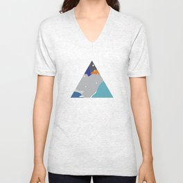 020 - Very late night, I couldn't sleep cause of moon light. Unisex V-Neck