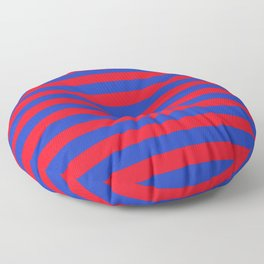 Blue and Red Stripes Floor Pillow