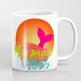 Mermaid Vibes Bright Colors Fluorescent Coffee Mug