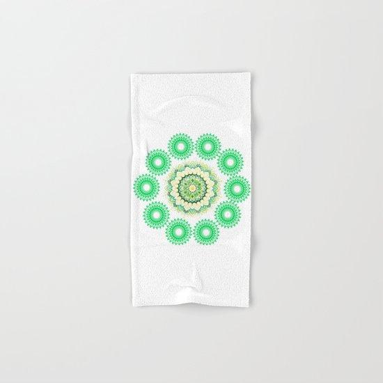Anahata Flower Mandala Hand & Bath Towel