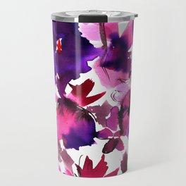 Sara Floral Pink Travel Mug