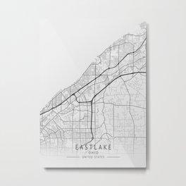 Eastlake - Ohio - US Gray Map Art Metal Print